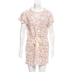 Rebecca Taylor Animal Print Sweatshirt Dress XS